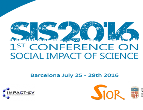 1st Conference on Social Impact of Science (SIS2016)