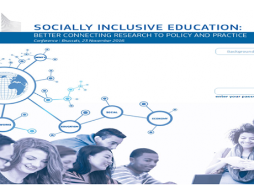 Socially Inclusive Education: Connecting Research to policy and practice. Brussels, 23 November 2016